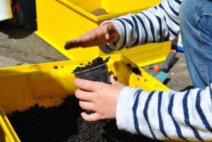 Le mélange pour faire les semis : du sable, du compost et de la terre.