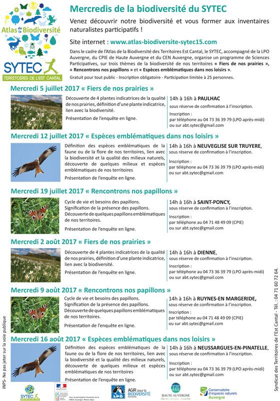 Lancement de l'Atlas de la Biodiversité Territoriale du SYTEC