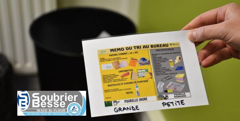 Mise en place du tri sélectif dans les bureaux de l'entreprise Soubrier Besse