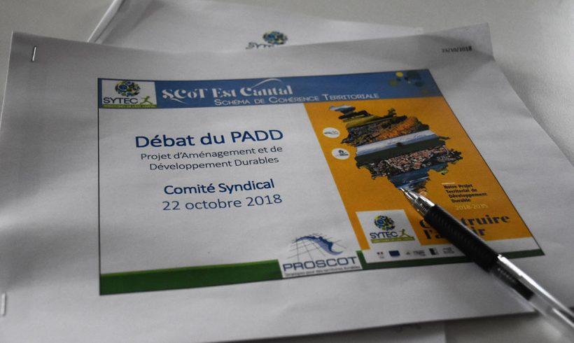 Les orientations du PADD débattus lors du comité syndical du 22 octobre 2018