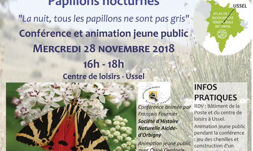 Mercredi de la Biodiversité -28 novembre à Ussel – Papillons de nuit