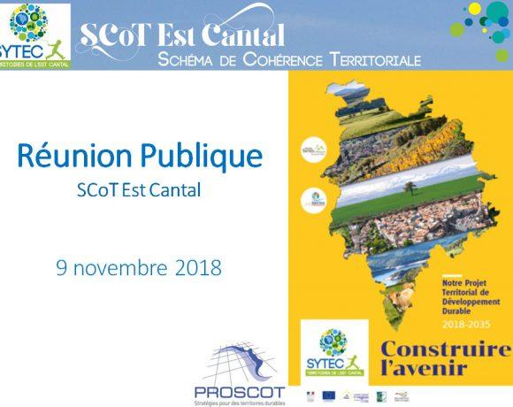 SCoT Est Cantal  : le projet territorial présenté aux habitants
