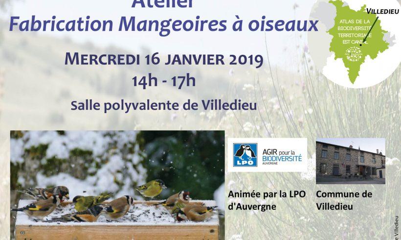 Mercredi de la Biodiversité – Fabrication des mangeoires à oiseaux – Mercredi 19 janvier