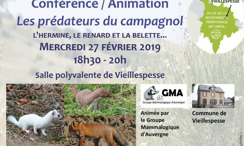 Mercredi de la Biodiversité : les prédateurs du campagnol – Vieillespesse
