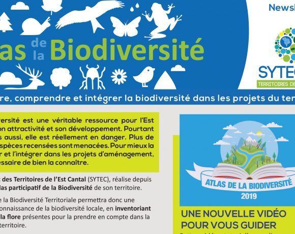 Atlas Biodiversité Territoriale – La Newsletter Avril 2019