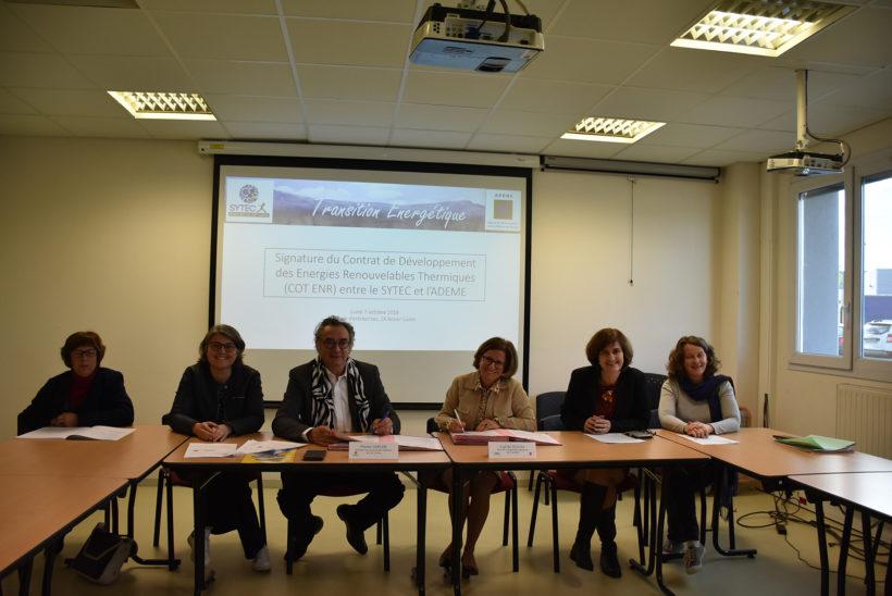 Transition Energétique – Signature du Contrat Territorial de développement des Energies renouvelables thermiques (COT ENR) entre l'ADEME et le SYTEC