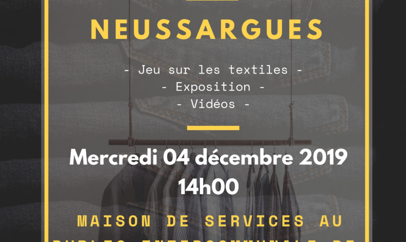 REEMPLOI DES TEXTILES – Maison des Services Neussargues en Pinatelle