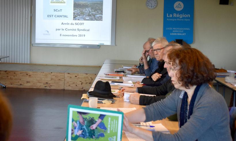Comité syndical 8 novembre 2019 – Arrêt du SCOT Est Cantal
