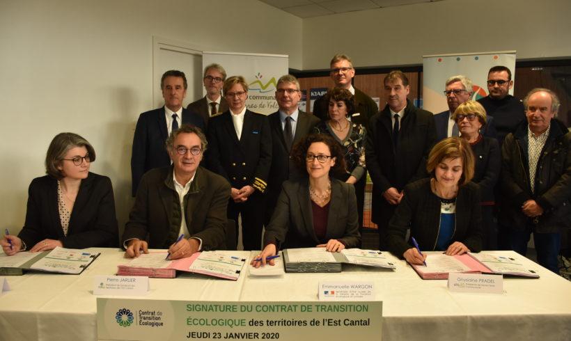 Un Contrat de Transition Ecologique, pour les territoires de l'Est Cantal