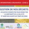 Coronavirus Covid-19 :  information importante pour la continuité de collecte des déchets