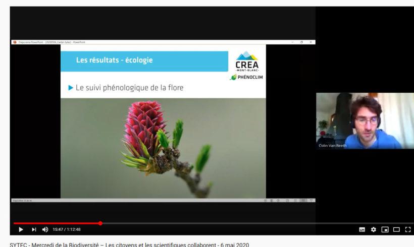 Mercredi de la Biodiversité – Webconférence du 6 mai 2020 « PHENOCLIM 2 Quand les citoyens et les scientifiques collaborent ! »