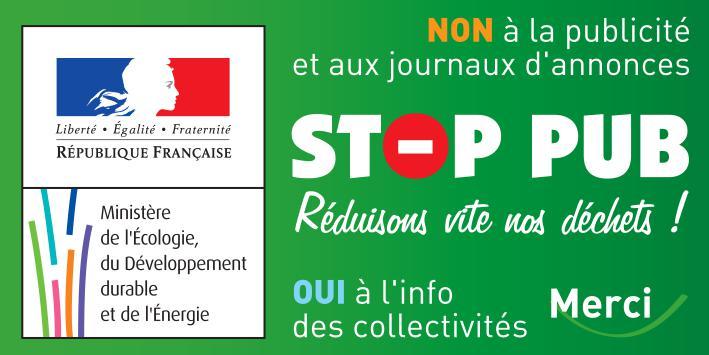 REDUCTION DES DECHETS : STOP PUB pour moins de papiers dans ma boîte aux lettres !