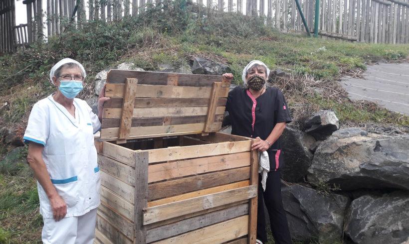 COMPOSTAGE PARTAGE : Installation d'un composteur partagé au restaurant du 3ème  âge en ville basse – Saint-Flour
